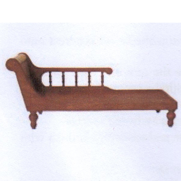 "1:12, 1"" Scale Dollhouse Miniature Furniture Kit Chaise"